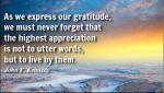 John F Kennedy Gratitude Quote