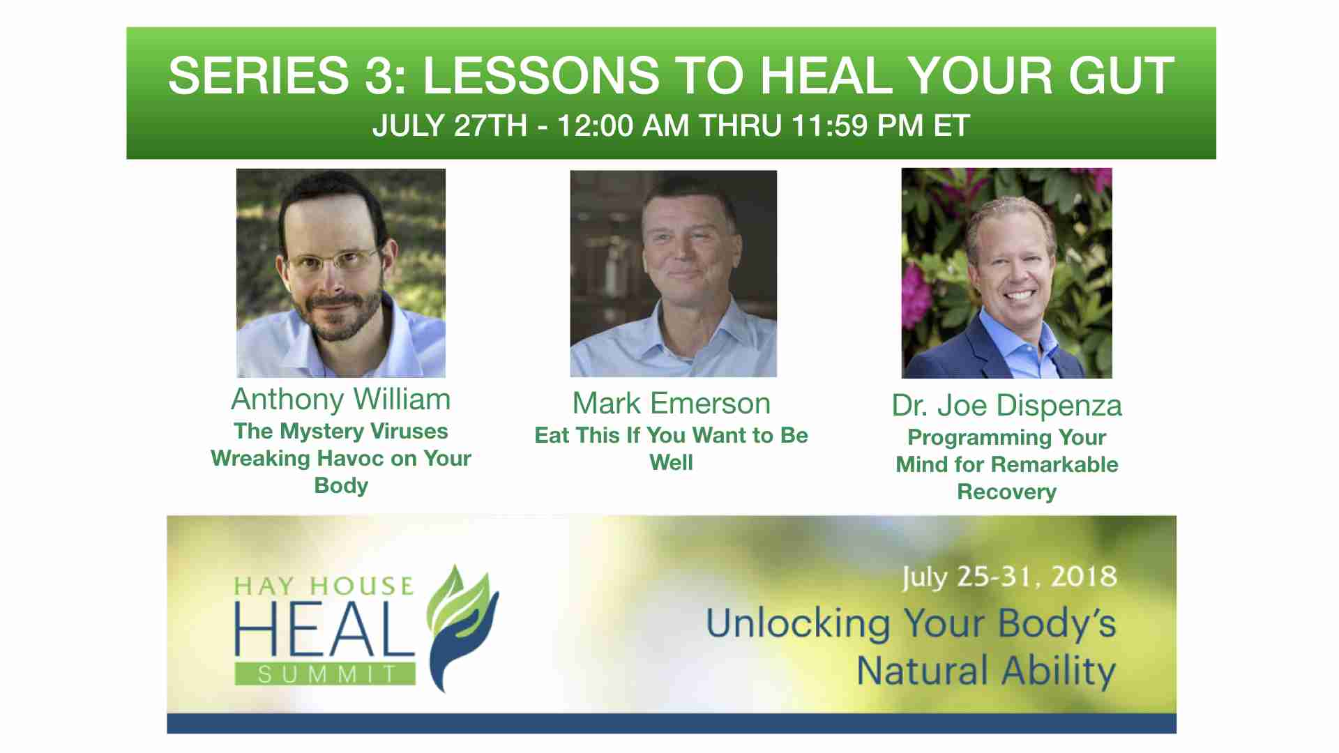 HEAL Summit Series 3 - Lessons to Heal Your Gut - http://www