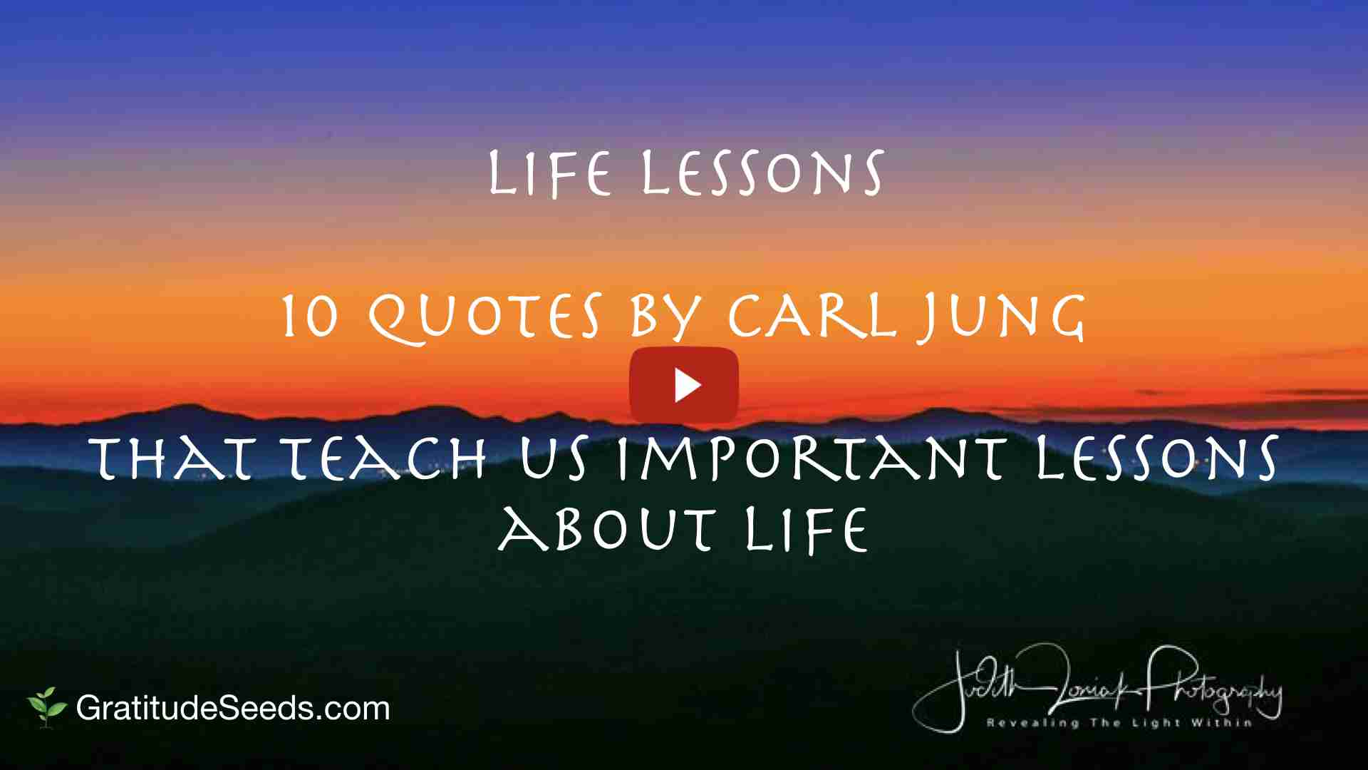 Life Lessons: Quotes by Carl Jung - Gratitude Seeds