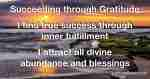 Succeeding through Gratitude