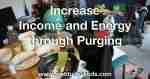 Increased Income and Energy through Purging